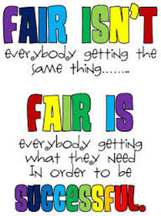 Image result for fair isn't always equal picture